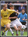 05/08/2001          Collect Pic : James Stewart .Ref : 673N9178                          .File Name : stewart01-falkirk v ayr utd.AYR'S NEILL DUFFY AND FALKIRK'S KENNY DEUCHAR CHALLENGE FOR THE BALL.James Stewart Photo Agency, Stewart House, Stewart Road, Falkirk. FK2 7AS      Vat Reg No. 607 6932 25.Office : +44 (0)1324 630007     Mobile : + 44 (0)7721 416997.Fax     :  +44 (0)1324 630007.E-mail : jim@jspa.co.uk.If you require further information then contact Jim Stewart on any of the numbers above.........