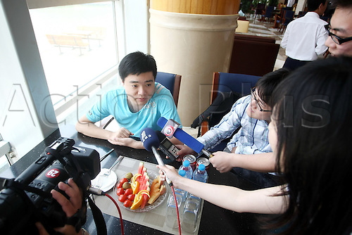 Jun 02, 2010; Wuxi, CHINA; Ding Junhui of China at a promotional event of the upcoming 2010 World Snooker Wuxi Classic which will be held from Jun 3 to 6 as the first professional tournament of the 2010/11 snooker season.