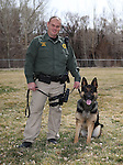 Carson City Sheriff's Deputy Joe Apple and his K-9 partner Hero, on Wednesday, March 5, 2014 at Fuji Park.<br /> Photo by Cathleen Allison/Nevada Photo Source