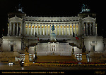Victor Emmanuel II Monument at night Piazza Venezia Rome