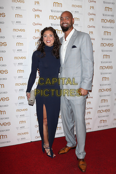 NEW YORK, NY - NOVEMBER 5: Hope Solo and Jerramy Stevens  attend Moves' 2015 Power Women Awards Gala presented by New York Moves Magazine at  India House Club on November 5, 2015 in New York City.   <br /> CAP/MPI99<br /> &copy;MPI99/Capital Pictures