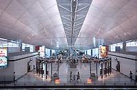 Chek Lap Kok Airport, Hong Kong .Inside the Departure Lounge at Hong Kong's Chep Lap Kok Airport..16-JUL-04
