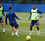 14.08.2019 Rangers training: Jermain Defoe and Andy Halliday