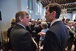 Nederland, Utrecht, 09-03-2012  Heropening Stadskasteel Paushuize . CDK Roel Robbertsen (L) in gesprek met Michael Schinkel. Foto: Gerard Til