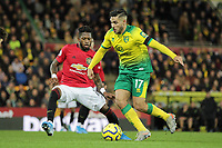 Emi Buendia of Norwich City under pressure from Fred of Manchester United during the Premier League match between Norwich City and Manchester United at Carrow Road on October 27th 2019 in Norwich, England. (Photo by Matt Bradshaw/phcimages.com)<br /> Foto PHC/Insidefoto <br /> ITALY ONLY
