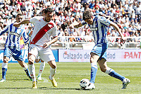 Rayo Vallecano's Anaitz Arbilla (l) and Real Sociedad's Liassine Cadamuro during La Liga match.April 14,2013. (ALTERPHOTOS/Acero)