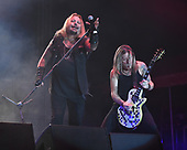 """MIAMI, FL - NOVEMBER 04: Vince Neil and Jeff """"Blando"""" Bland of the Vince Neil Band perform at The Magic City Casino on November 4, 2017 in Miami, Florida. Credit Larry Marano © 2017"""