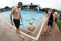 18 JUL 2010 - HATHERSAGE, GBR - Competitors prepare for the start of their wave at the Hathersage Hilly Triathlon .(PHOTO (C) NIGEL FARROW)