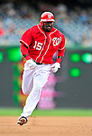 25 April 2010: Washington Nationals' infielder Cristian Guzman in action against the Los Angeles Dodgers at Nationals Park in Washington, DC. The Nationals shut out the Dodgers 1-0 to take the rubber match of their 3-game series. Mandatory Credit: Ed Wolfstein Photo