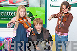 BUSKERS: Taking part in the Irish Traditional music busking competition at the Ballyheigue Summer Festival on Saturday night l-r: Aoife and Fiachra King, Banna and Orla Richardson.   Copyright Kerry's Eye 2008