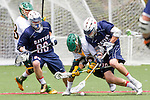 Orange, CA 05/16/15 - Nick  Borkey (Dayton #88), Ross Sattler (Dayton #10) and unidentified Concordia player(s) in action during the 2015 MCLA Division II Championship game between Dayton and Concordia, at Chapman University in Orange, California.