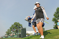 Shanshan Feng (CHN) departs the 16th tee during Thursday's first round of the 72nd U.S. Women's Open Championship, at Trump National Golf Club, Bedminster, New Jersey. 7/13/2017.<br /> Picture: Golffile | Ken Murray<br /> <br /> <br /> All photo usage must carry mandatory copyright credit (&copy; Golffile | Ken Murray)