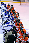 11-12 January 2008:  RIT Tigers and Air Force Falcons during Atlantic Conference hockey action at the Cadet Ice Arena, Air Force Academy, Colorado Springs, Colorado.