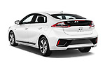 Car pictures of rear three quarter view of 2017 Hyundai Ioniq-Electric Electric-Limited 5 Door Hatchback Angular Rear