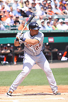 Detroit Tigers third baseman Miguel Cabrera (24) at bat against the Miami Marlins during a spring training game at the Roger Dean Complex in Jupiter, Florida on March 25, 2013. Detroit defeated Miami 6-3. (Stacy Jo Grant/Four Seam Images)........