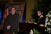 Mary Clare Murray, daughter of the late Associate Justice of the Supreme Court Antonin Scalia, speaks at the memorial service for his father at the Mayflower Hotel in Washington, DC, Tuesday, March 1, 2016. <br /> Credit: Susan Walsh / Pool via CNP
