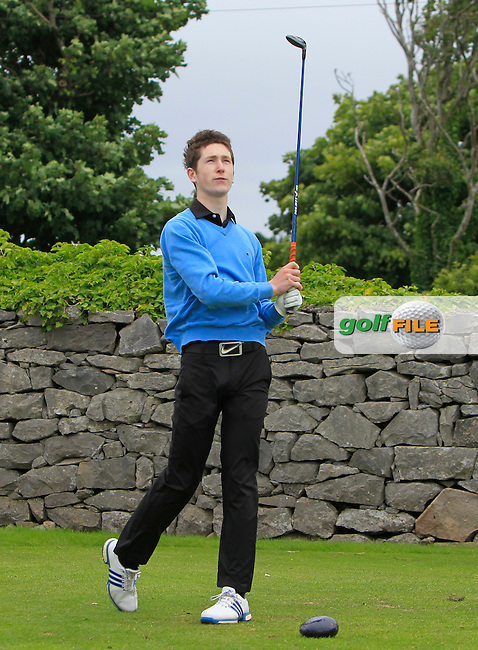 Seamus Burke (Mount Juliet) on the 1st tee during R2 of the 2016 Connacht U18 Boys Open, played at Galway Golf Club, Galway, Galway, Ireland. 06/07/2016. <br /> Picture: Thos Caffrey | Golffile<br /> <br /> All photos usage must carry mandatory copyright credit   (&copy; Golffile | Thos Caffrey)