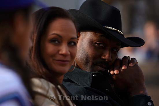 Karl and Kay Malone. Karl Malone statue ceremony at the Delta Center.&amp;#xA;3.23.2006<br />