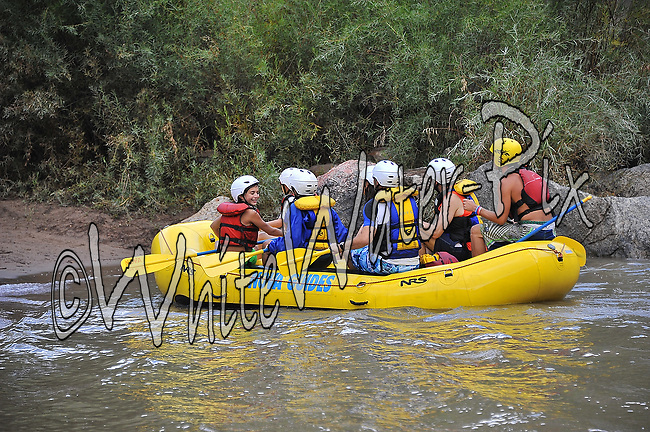 Nova Guides crashing Man-Eater Rapid while running the Shoshone Triple Whammy in Glenwood Canyon on the Colorado River, August 26, 2013, Afternoon Trip, PM, Glenwood Springs, Colorado - WhiteWater-Pix | River Adventure Photography - by MADOGRAPHER Doug Mayhew