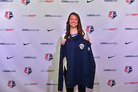Los Angeles, CA - Thursday January 12, 2017: Ashley Hatch during the 2017 NWSL College Draft at JW Marriott Hotel.