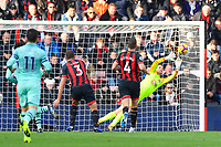 Alex Iwobi of Arsenal looks to have scored in the top corner but is saved by Asmir Begovic of AFC Bournemouth during AFC Bournemouth vs Arsenal, Premier League Football at the Vitality Stadium on 25th November 2018