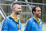 AMSTELVEEN - Scheidsrechters Frank Heijster en Jacir Soares de Brito .Hoofdklasse competitie heren. Pinoke-SCHC (0-1) . COPYRIGHT  KOEN SUYK