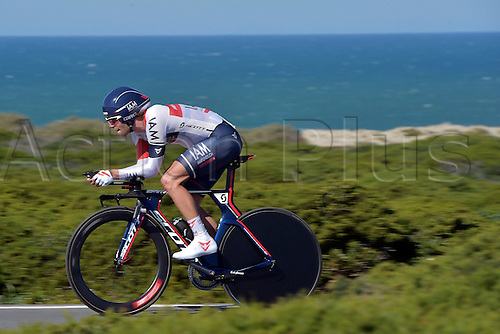 19.02.2016. Sagres, Portual.  VANGENECHTEN Jonas (BEL) Rider of IAM CYCLING in action during stage 3 of the 42nd Tour of Algarve cycling race, an individual time trial of 18km, with start and finish in Sagres on February 19, 2016 in Sagres, Portugal.