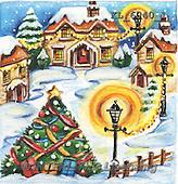 Interlitho, CHRISTMAS LANDSCAPES, WEIHNACHTEN WINTERLANDSCHAFTEN, NAVIDAD PAISAJES DE INVIERNO, paintings+++++,KL6040/1,#XL# ,#161#