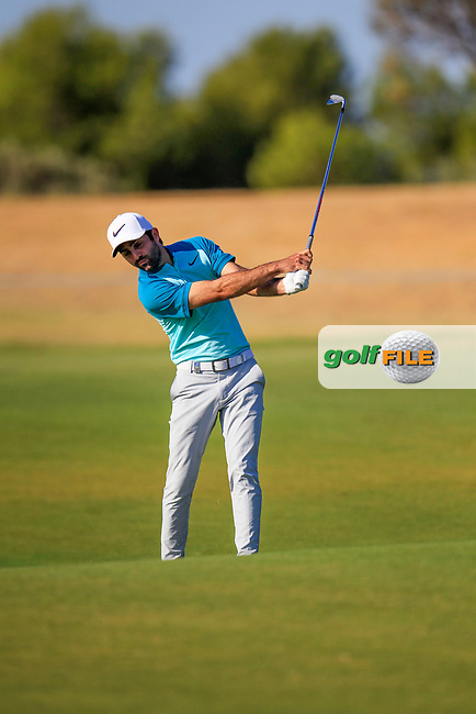 Joel Stalter (FRA) on the 17th during the 1st round of the 2017 Portugal Masters, Dom Pedro Victoria Golf Course, Vilamoura, Portugal. 21/09/2017<br /> Picture: Fran Caffrey / Golffile<br /> <br /> All photo usage must carry mandatory copyright credit (&copy; Golffile | Fran Caffrey)