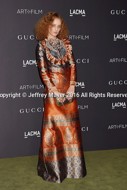 LOS ANGELES, CA - OCTOBER 29: Artist Petra Collins attends the 2016 LACMA Art + Film Gala honoring Robert Irwin and Kathryn Bigelow presented by Gucci at LACMA on October 29, 2016 in Los Angeles, California.
