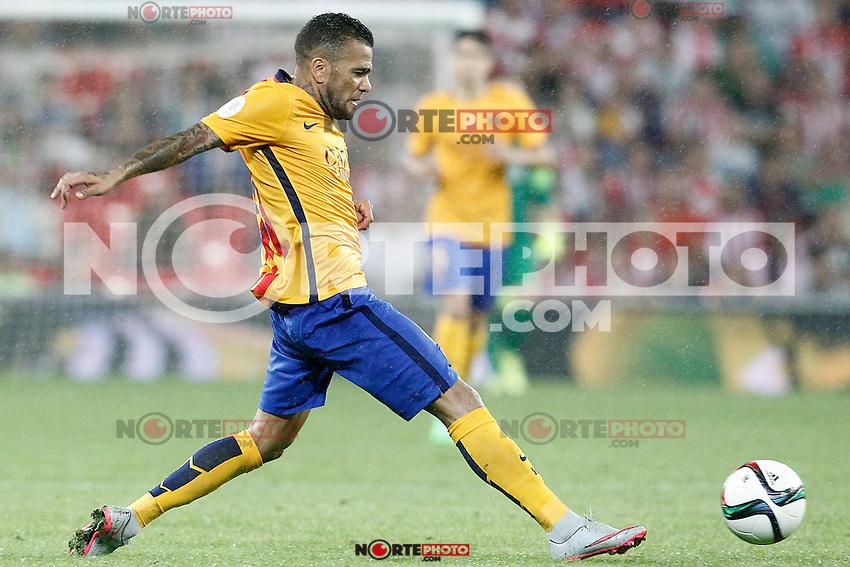 FC Barcelona's Daniel Alves during Supercup of Spain 1st match.August 14,2015. (ALTERPHOTOS/Acero)