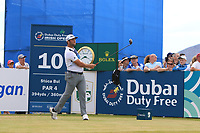 Jon Rahm (ESP) on the 10th tee during Round 2 of the Dubai Duty Free Irish Open at Ballyliffin Golf Club, Donegal on Friday 6th July 2018.<br /> Picture:  Thos Caffrey / Golffile