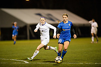 Seattle, WA - Thursday, March, 08, 2018: Stephanie Verdoia during a preseason match between the Seattle Reign FC and University of Washington at Husky Soccer Stadium.