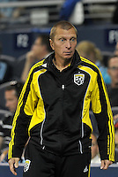 Columbus Crew Assistant Coach Vadim Kirillov... Sporting Kansas City defeated Columbus Crew 2-1 at LIVESTRONG Sporting Park, Kansas City, Kansas.