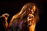 """Patrícia Rabelo.<br /> <br /> XXX Festival de Música de OurémO Festival da Canção do município de Ourém, nordeste paraense, considerado um dos mais antigos em atividade no Brasil, realizou sua 30ª edição, no ultimo sábado (26), no Complexo Cultural e Turístico, no palco da concha acústica municipal. O evento iniciou na quinta (24) com a primeira eliminatória e a segunda na sexta (25) foram classificadas quatorze músicas, sendo sete de cada eliminatória para a finalissíma do festival.A grande vencedora do XXX Festival, ficando em primeiro lugar foi à canção """"Cantiga de Lelê"""", de Marcos Campelo, que conseguiu a aprovação dos jurados e somou maior pontuação entre as participantes. A mesma canção, ainda levou o prêmio de Melhor Arranjo do festival.O primeiro e segundo lugar foi dividido entre as músicas: """"Vestida como a Flor"""", de Lula Barbosa e Clodoaldo Ferreira, e """"Rios de Anseios"""", de Paulo Moura e Marcela Moura.Ainda foram premiados: A canção, """"Manoela"""" de Alderico Ayres,como Melhor Música de Ourém no Festival. Andrea Pinheiro como Melhor Interpreta, defendendo a música """"Rios de Anseio"""" de Paulo e Marcela Moura.Ourém, Pará, Brasil.Foto Carlos Barretto26/07/2014"""
