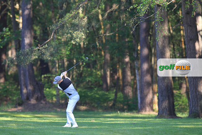 Michael HOEY (NIR) during round 1 of the 2015 BMW PGA Championship over the West Course at Wentworth, Virgina Water, London. 21/05/2015<br /> Picture Fran Caffrey, www.golffile.ie:
