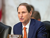 United States Senator Ron Wyden (Democrat of Oregon) questions witnesses during an open hearing held by the US Senate Select Committee on Intelligence to examine worldwide threats on Capitol Hill in Washington, DC on Tuesday, February 9, 2016.<br /> Credit: Ron Sachs / CNP