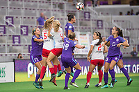 Orlando, FL - Saturday August 05, 2017: Dani Weatherholt, Kathleen Naughton, Alyssa Mautz, Ali Krieger, Danielle Colaprico, Alex Morgan during a regular season National Women's Soccer League (NWSL) match between the Orlando Pride and the Chicago Red Stars at Orlando City Stadium.