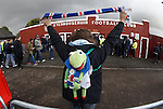 Kermit the Frog makes his regular appearance at Rangers games on tour in division 3