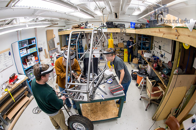 Jan. 30, 2015; College of Engineering Baja Shop. (Photo by Matt Cashore/University of Notre Dame)