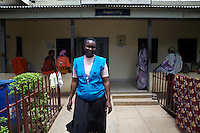 UNFPA supports human capacity building in the health sector. UNV working at Juba College of Nursing and Midwifery.