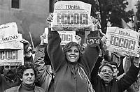 - manifestazione del PCI, Partito Comunista Italiano, contro il governo di Bettino Craxi (marzo 1984)..- demonstration of Pci, Italian Communist Party, against the government of Bettino Craxi (Mars 1984)