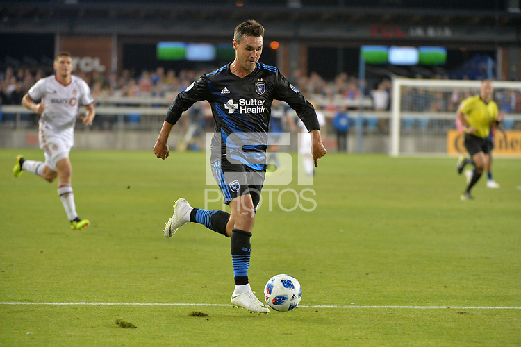 San Jose, CA - Saturday August 18, 2018: Chris Wondolowski during a Major League Soccer (MLS) match between the San Jose Earthquakes and Toronto FC at Avaya Stadium.