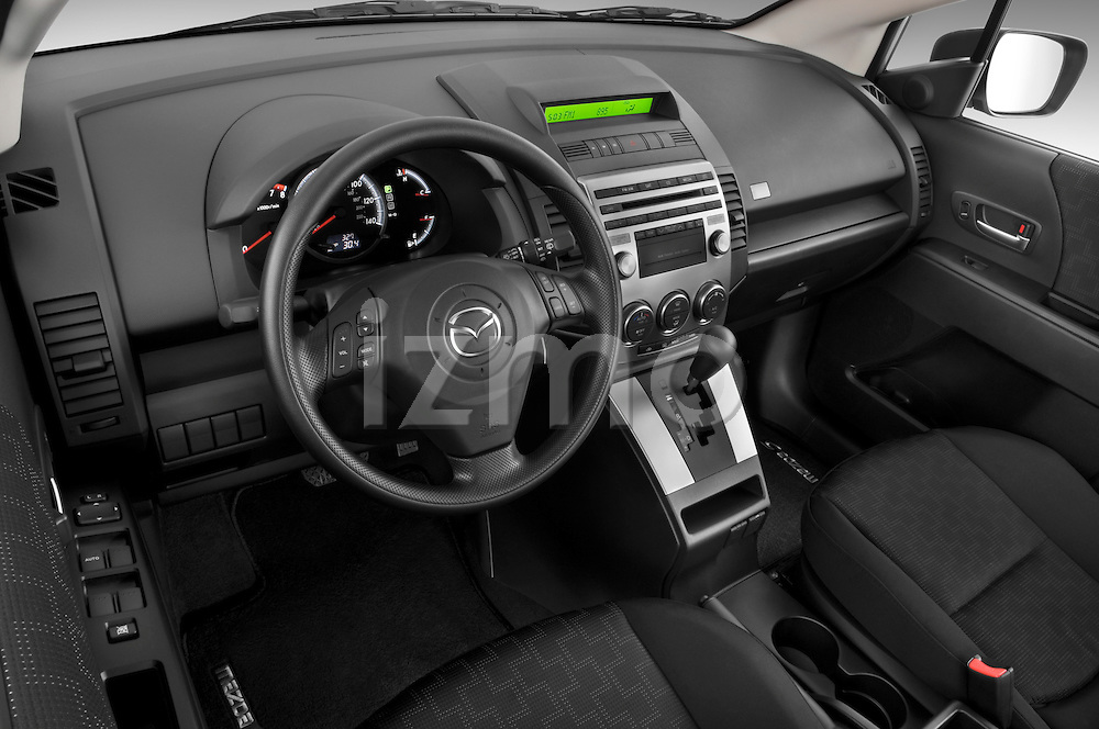 High angle dashboard view of a 2008 Mazda 5