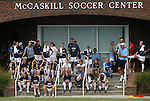 30 August 2009: The University of North Carolina Tar Heels team watches the game from the steps of the McCaskill Soccer Center. The Duke University Blue Devils lost 3-2 to the University of Central Florida Knights at Fetzer Field in Chapel Hill, North Carolina in an NCAA Division I Women's college soccer game.