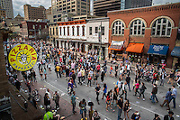 6th Street fills up with thousands of SXSW attendees, 6th street is the epicenter of the yearly SXSW film, interactive, and music festivals and conferences