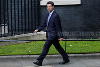James Brokenshire MP (Secretary of State for Northern Ireland).<br /> <br /> London, 12/06/2017. Today, Theresa May's reshuffled Cabinet met at 10 Downing Street after the General Election of the 8 June 2017. Philip Hammond MP - not present in the photos - was confirmed as Chancellor of the Exchequer. <br /> After 5 years of the Coalition Government (Conservatives &amp; Liberal Democrats) led by the Conservative Party leader David Cameron, and one year of David Cameron's Government (Who resigned after the Brexit victory at the EU Referendum held in 2016), British people voted in the following way: the Conservative Party gained 318 seats (42.4% - 13,667,213 votes &ndash; 12 seats less than 2015), Labour Party 262 seats (40,0% - 12,874,985 votes &ndash; 30 seats more then 2015); Scottish National Party, SNP 35 seats (3,0% - 977,569 votes &ndash; 21 seats less than 2015); Liberal Democrats 12 seats (7,4% - 2,371,772 votes &ndash; 4 seats more than 2015); Democratic Unionist Party 10 seats (0,9% - 292,316 votes &ndash; 2 seats more than 2015); Sinn Fein 7 seats (0,8% - 238,915 votes &ndash; 3 seats more than 2015); Plaid Cymru 4 seats (0,5% - 164,466 votes &ndash; 1 seat more than 2015); Green Party 1 seat (1,6% - 525,371votes &ndash; Same seat of 2015); UKIP 0 seat (1.8% - 593,852 votes); others 1 seat. <br /> The definitive turn out of the election was 68.7%, 2% higher than the 2015.<br /> <br /> For more info about the election result click here: http://bbc.in/2qVyNRd &amp; http://bit.ly/2s9ob51<br /> <br /> For more info about the Cabinet Ministers click here: https://goo.gl/wmRYRd