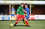 2018-06-30 / Voetbal / Seizoen 2018-2019 / KFC Houtvenne - KVC Westerlo / Kjell Ven (l. Houtvenne) met Cedric Vangeel<br /> <br /> ,Foto: Mpics