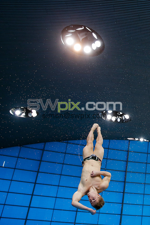 Picture by Rogan Thomson/SWpix.com - 02/05/2015 - Diving - 2015 FINA/NVC Diving World Series - London Aquatics Centre, London, England - Jack Laugher of Great Britain in action on Day 2.