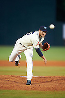 Mobile BayBears pitcher Braden Shipley (25) delivers a pitch during a game against the Mississippi Braves on April 28, 2015 at Hank Aaron Stadium in Mobile, Alabama.  The game was suspended after the top of the second inning with Mobile leading 3-0, the BayBears went on to defeat the Braves 6-1 the following day.  (Mike Janes/Four Seam Images)